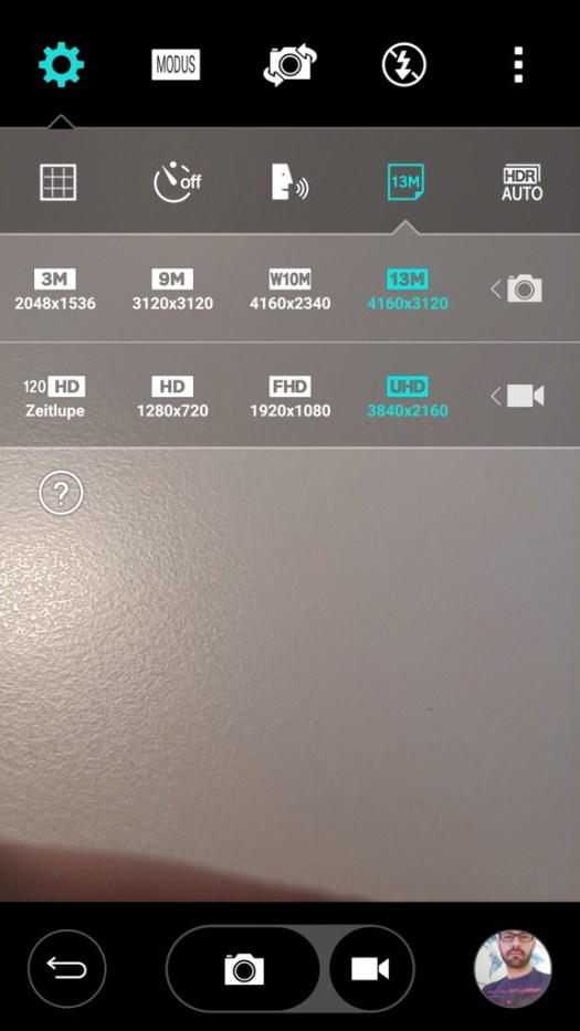 lg gflex2 screenshot 17 - kamera einstellungen