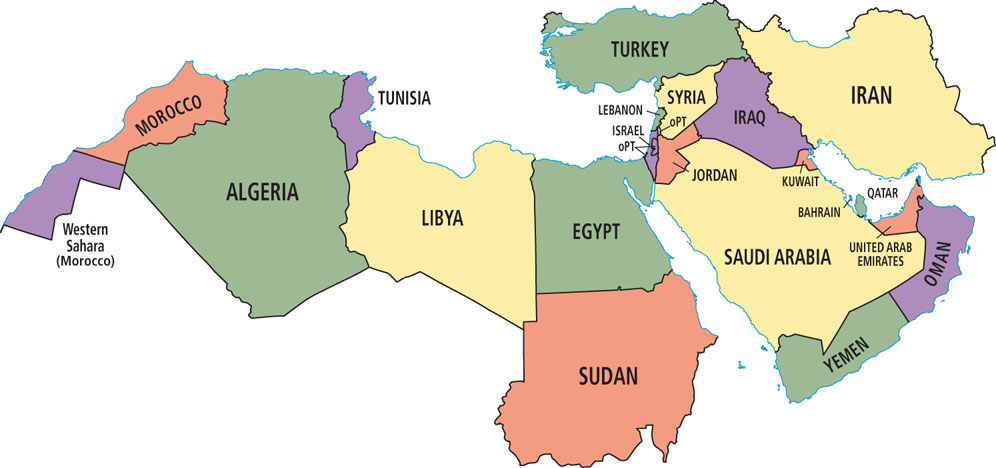 south west asia and north africa map Environment Of North Africa Southwest Asia World Regional south west asia and north africa map
