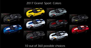 2017 Corvette Grand Sport Colors - 10 out of 360 Choices