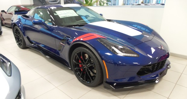 2017 Corvette Grand Sport in Admiral Blue Metallic and the Grand Sport Heritage Package