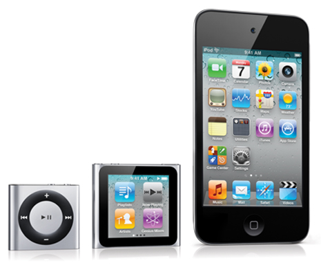 Die neue iPod Family September 2010
