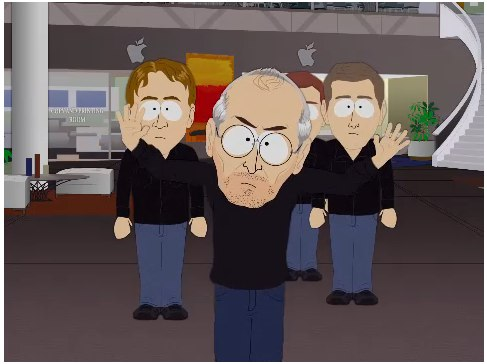 Steve Jobs from a South Park episode