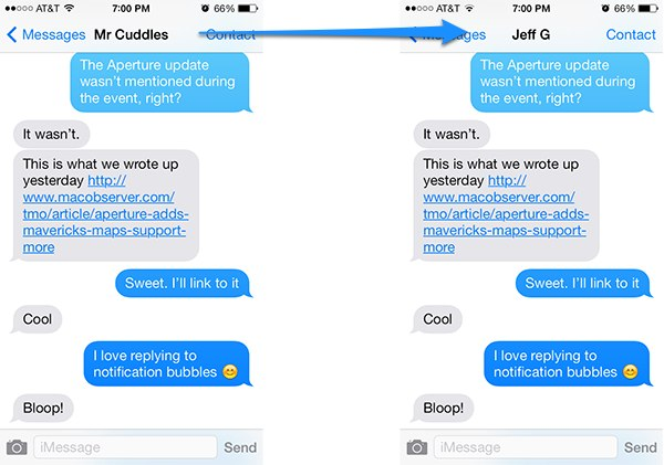 iOS 7: Tweak and Disable Short Names in Messages - The Mac ...