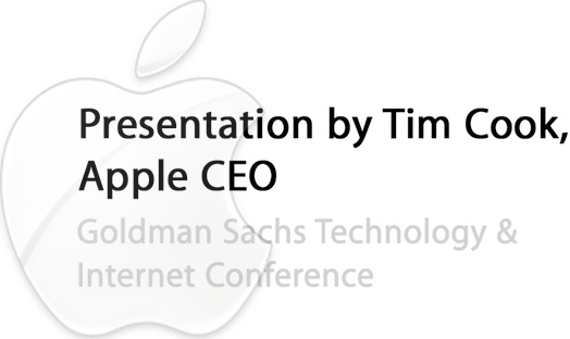 Apple Posts Recording of Tim Cook-Goldman Sachs Interview