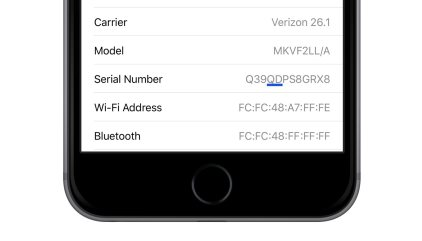 apple iphone serial number on box