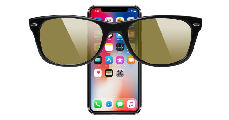 Image result for iPhone X and Sunglasses