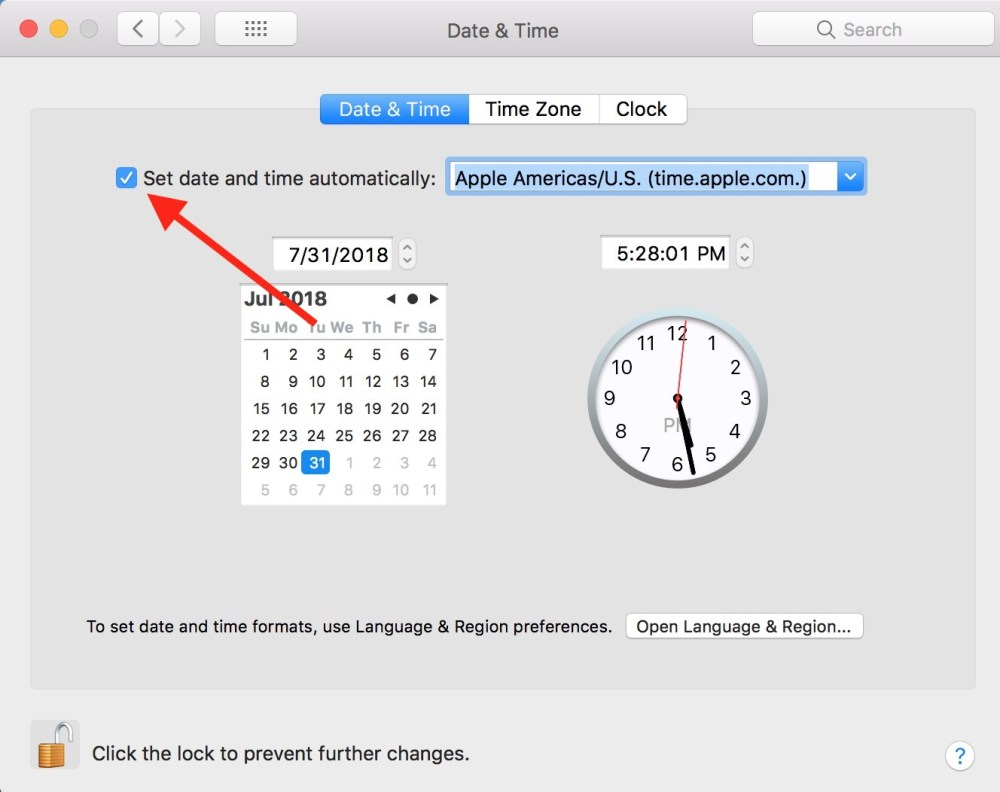 medium resolution of  set date and time automatically toggle in mac date time preferences