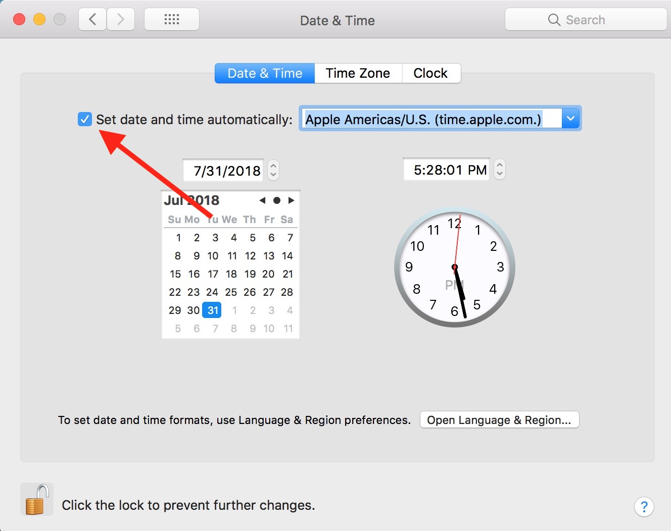 hight resolution of  set date and time automatically toggle in mac date time preferences