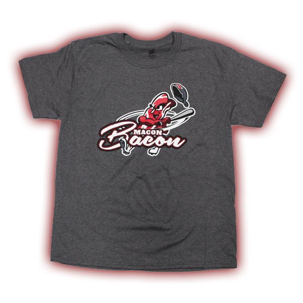 481e942845 Bacon Man T-Shirt - Heather - Macon Bacon Baseball