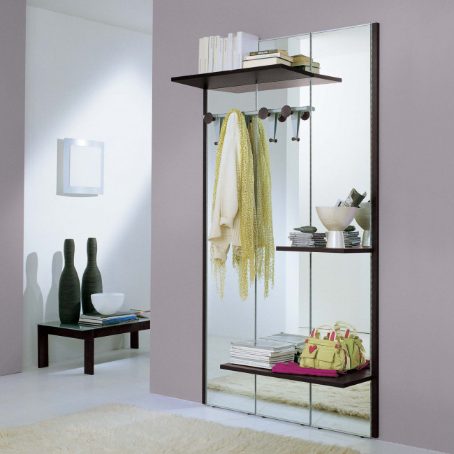 Astor A02 hall mirror with coat rack