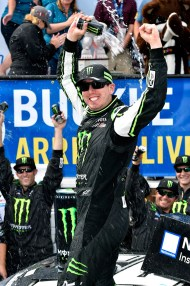 Kyle Busch monster victory lane