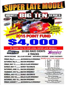 BIG TEN 2015 Late Model schedule