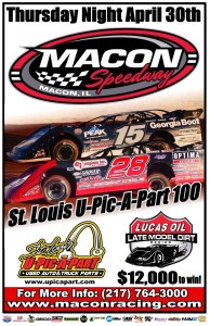 April 30 Macon Lucas Oil