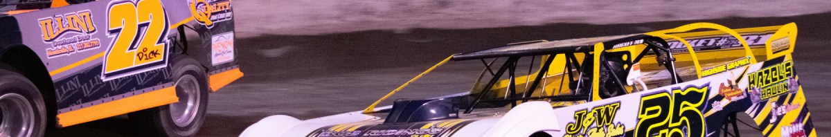 Racing action from Macon Speedway in Macon, Illinois. Photo's by David B. Stukins Photography.