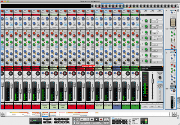 record-mixing-console