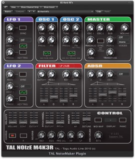 TAL-NoiseMaker Software Synthesizer