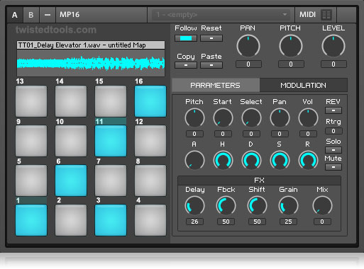Twisted Tools MP16 Sampler