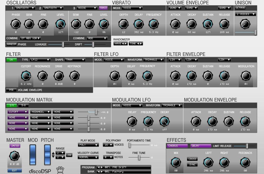 discoDSP Launches Corona Synthesizer