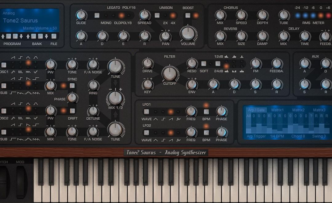 Tone2 Saurus Soft Synth Sims Classic Analog