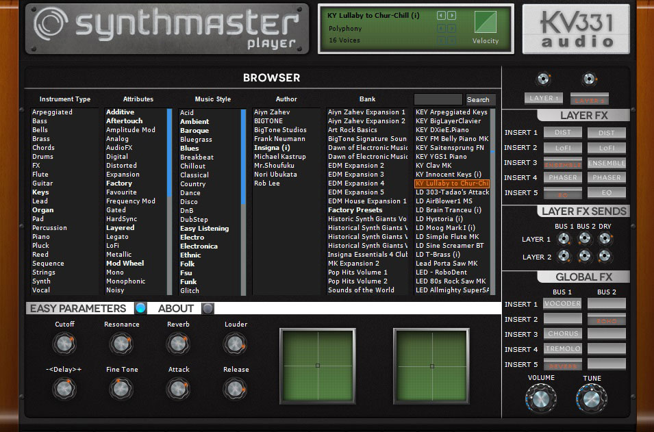 Test the Waters With KV331 SynthMaster Player