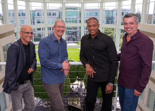 Apple Beats — Jimmy Iovine, Tim Cook, Dr. Dre and Eddy Cue (Photo: Apple)