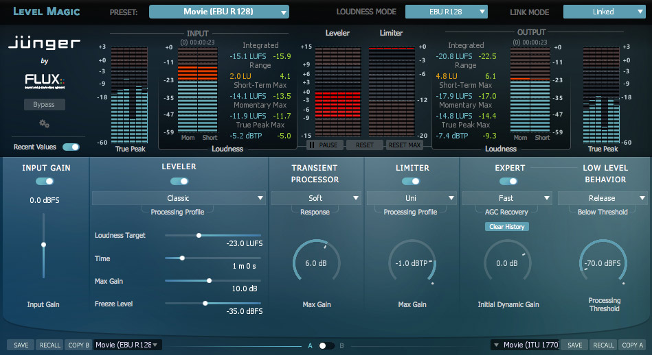 Flux:: Debuts Jünger Audio Level Magic Plug-In