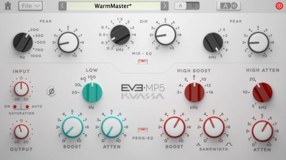 Kuassa EVE-MP5 Blends Two Classic Pultec EQs