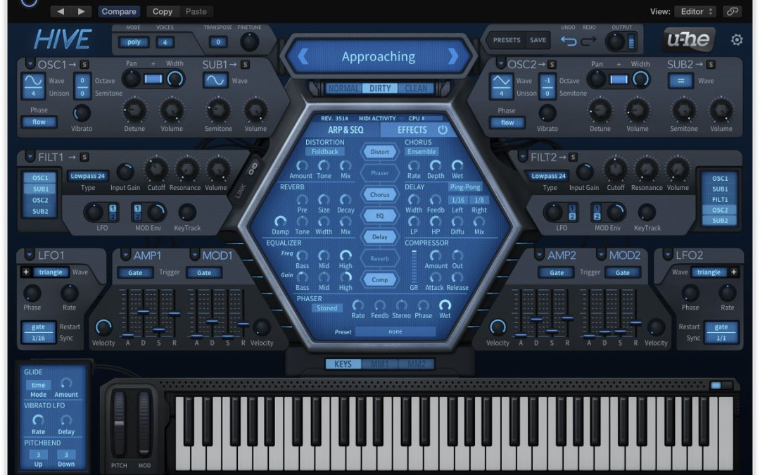 u-he Hive Synth Goes Live