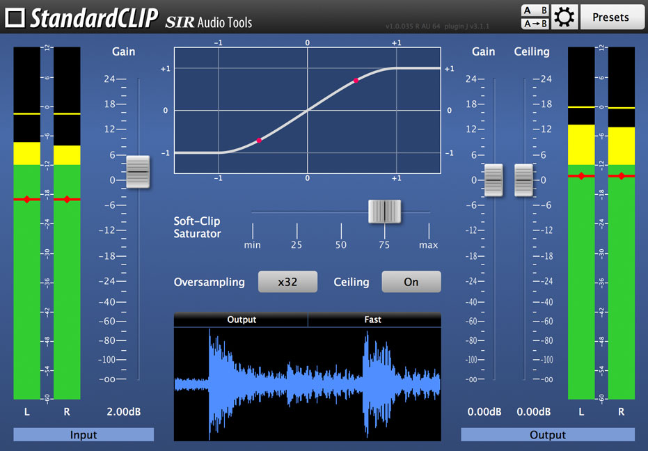 SIR Audio Tools StandardCLIP fine tunes your overs