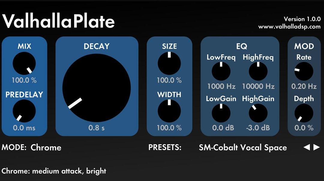 ValhallaDSP ValhallaPlate echoes classic plate reverb