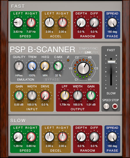 PSP B-Scanner delivers Hammond B-3 style vibrato and chorus