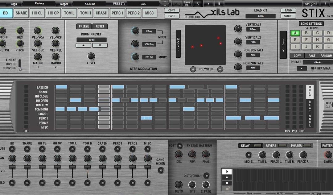 XILS-lab launches StiX by Xils virtual analog drum machine plugin