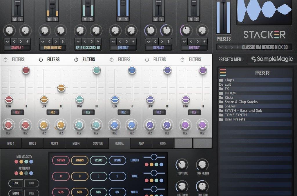 Sample Magic intros Stacker drum design plugin