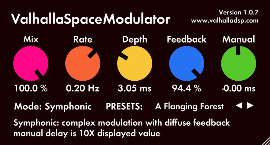 ValhallaDSP releases free SpaceModulator plugin
