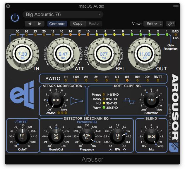 Empirical Labs plugin Arousor celebrates 20 years of Distressor