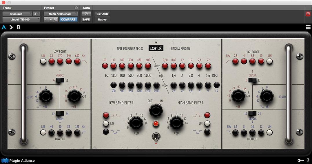 Plugin Alliance launches Lindell Audio TE-100 vintage EQ
