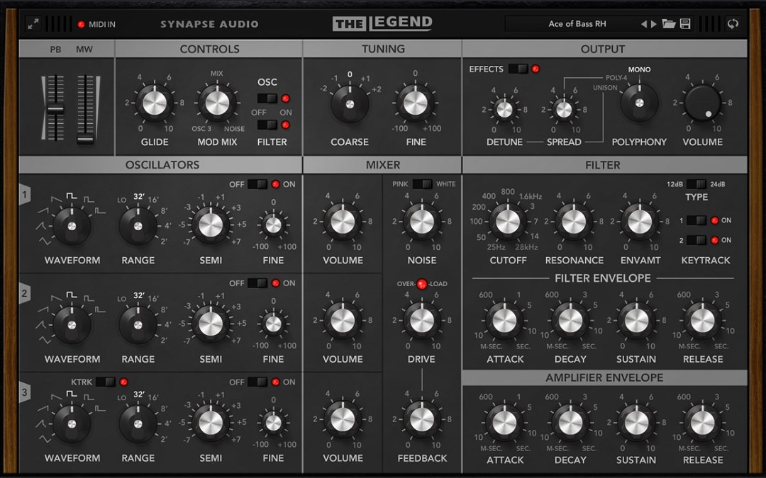 Synapse summons famous vintage synth with The Legend