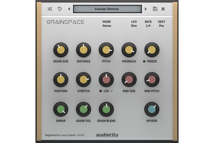 Audiority releases GrainSpace granular reverb processor