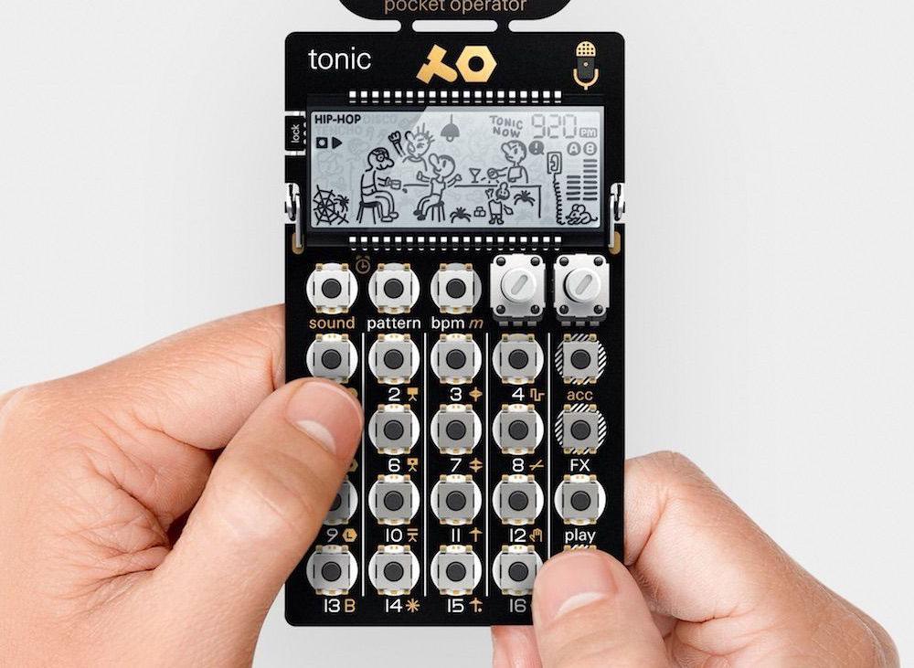 Teenage Engineering PO-32 Tonic handheld talks to Microtonic plugin