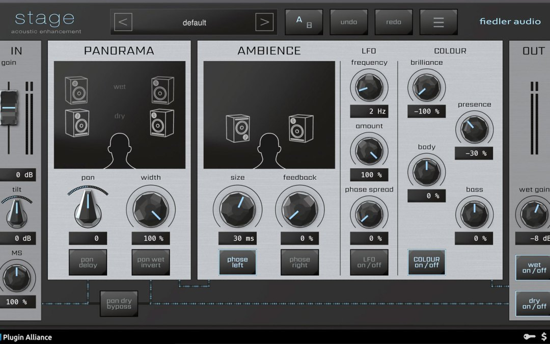 Plugin Alliance intros Fiedler Audio Stage stereo toolkit
