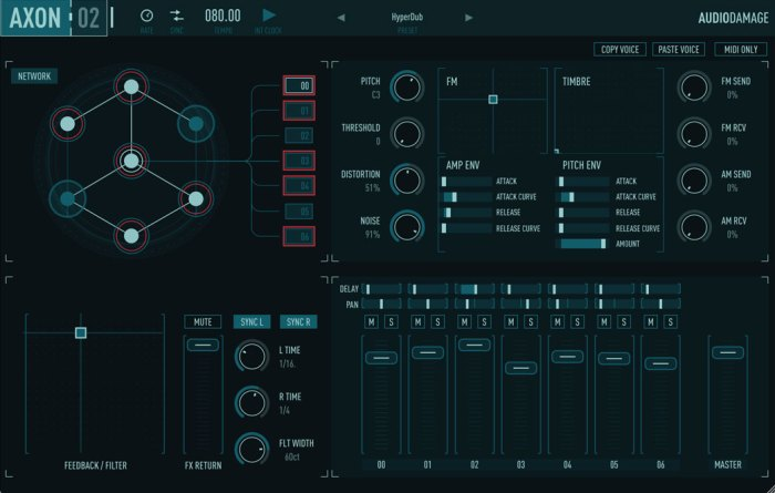 Audio Damage drum synth Axon 2 is now available
