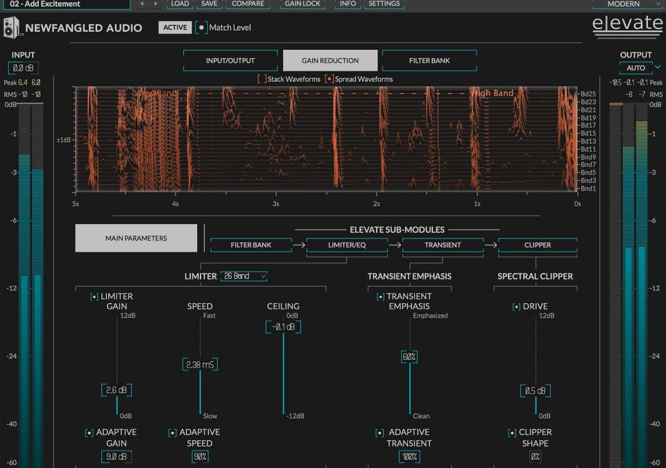 Newfangled Audio issues Elevate mel scale mastering limiter