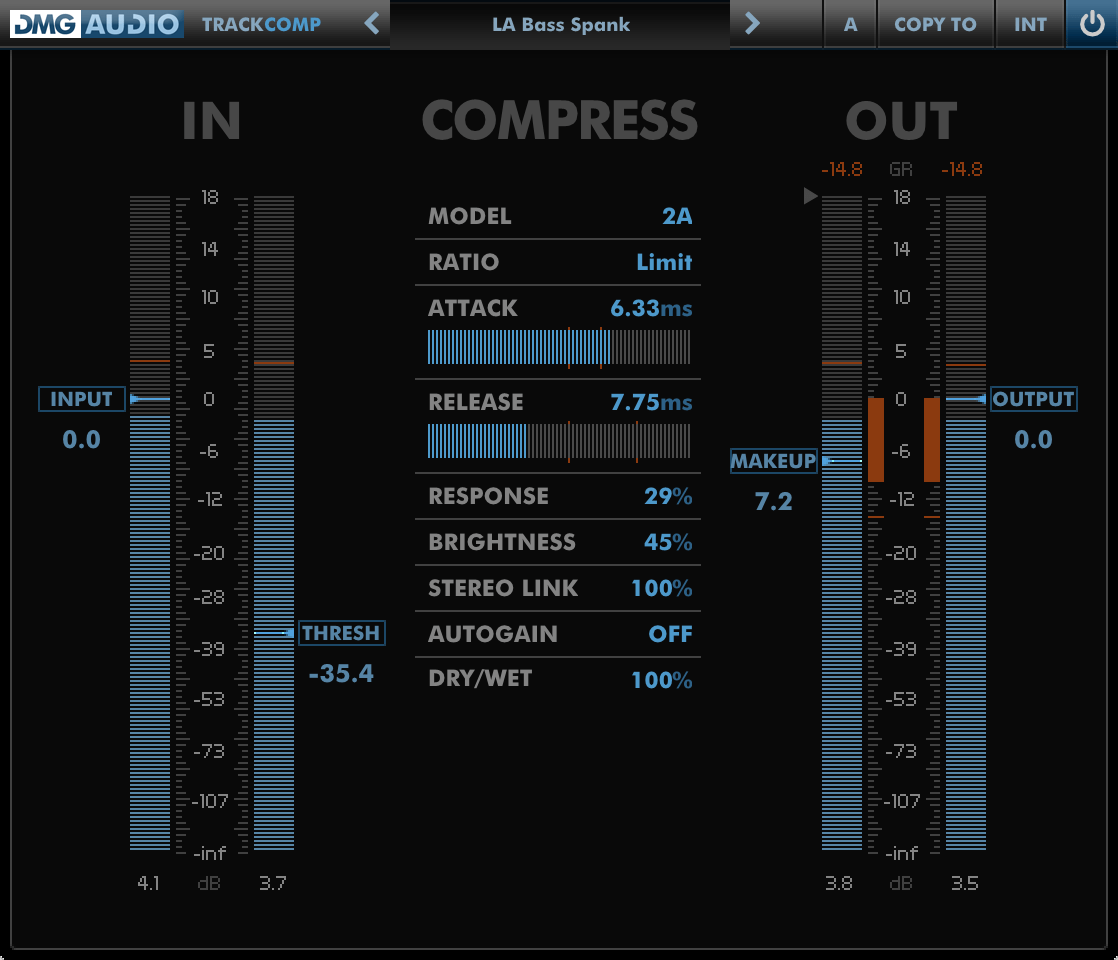 DMG Audio TrackComp is five compressors in one
