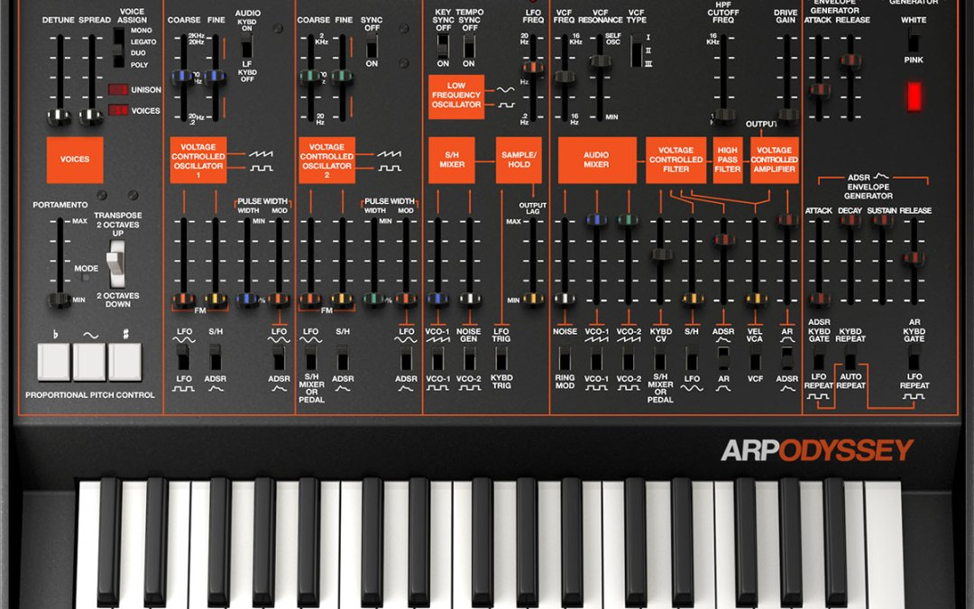 Korg revs Legacy Collection adding Arp Odyssey plugin