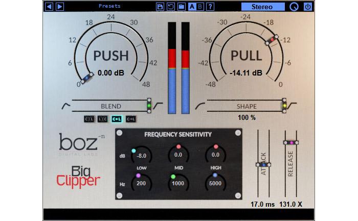 Boz dials in drive with new Big Clipper plugin