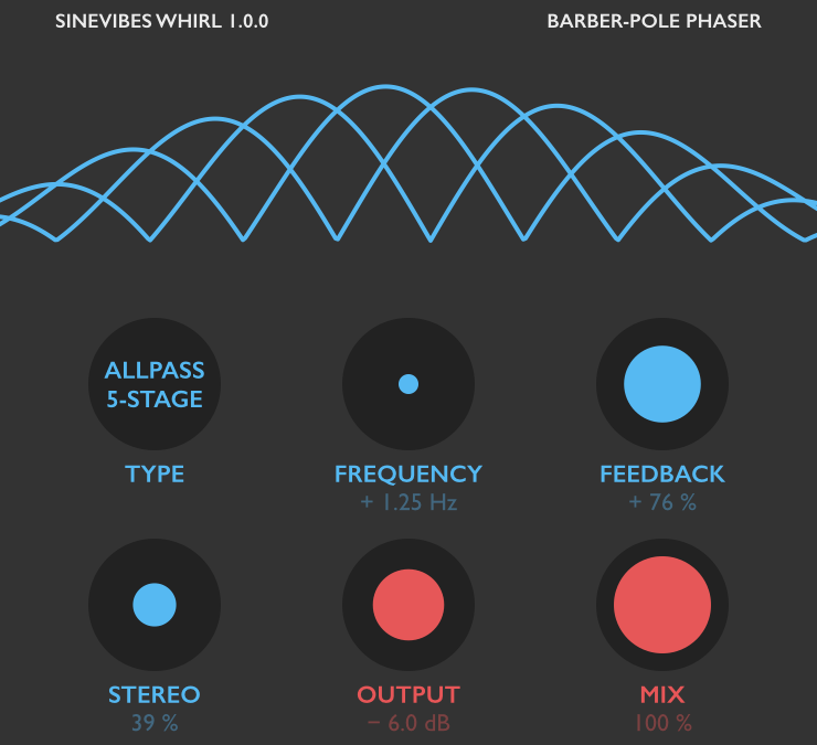 Sinevibes goes psychedelic with Whirl phaser plugin