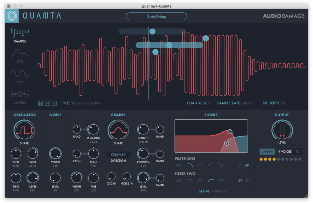 Audio Damage releases Quanta granular synthesizer