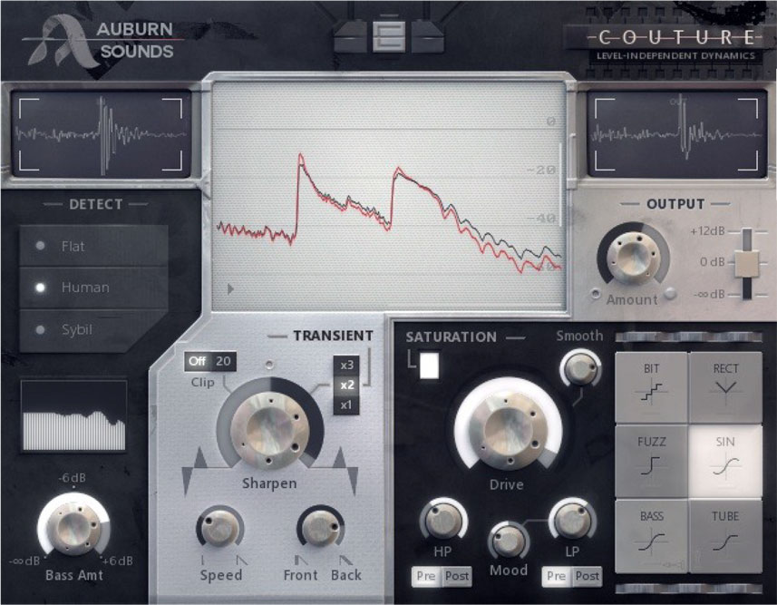 Auburn Sounds Couture does transient shaping and saturation