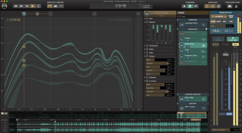 TC Electronic releases Finalizer mastering app