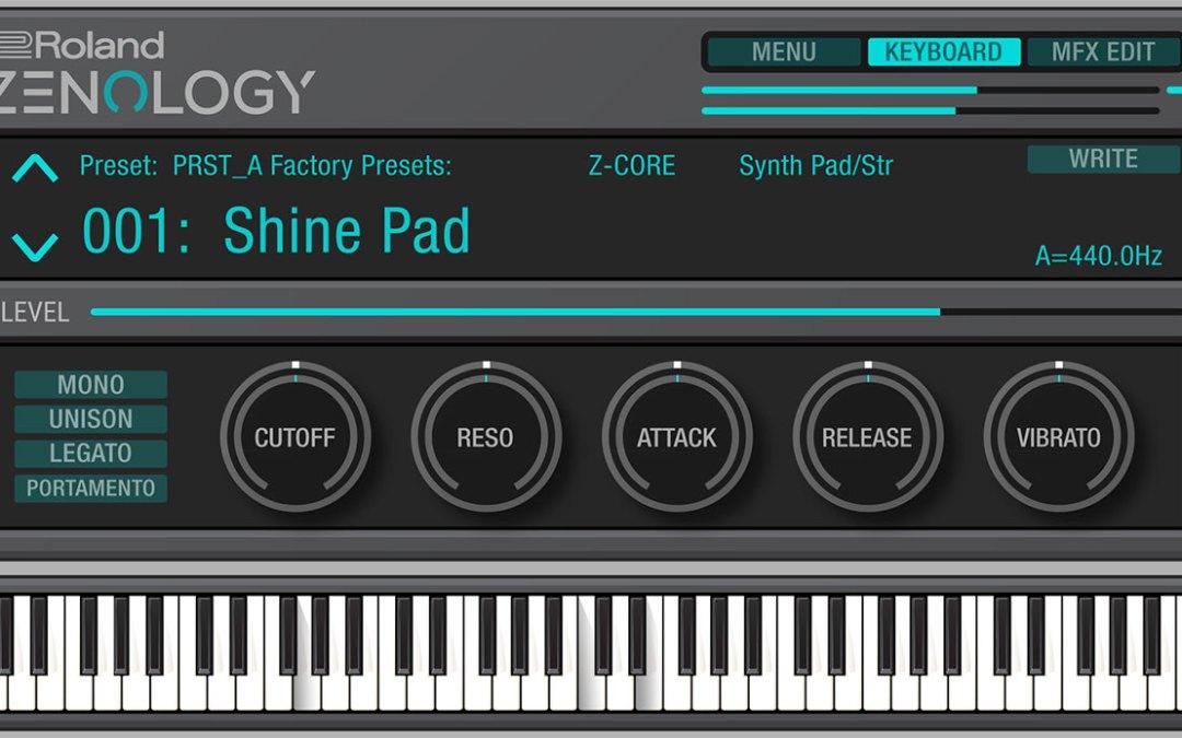 Roland intros Zenology expandable ZEN-Core synthesis plugin